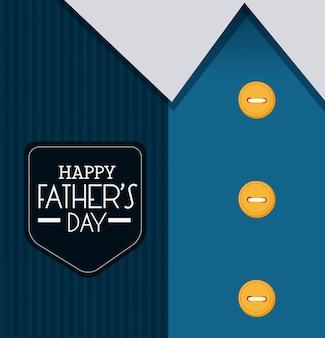 幸せな父の日カードデザイン。