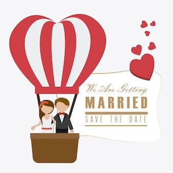Дизайн свадебной открытки.