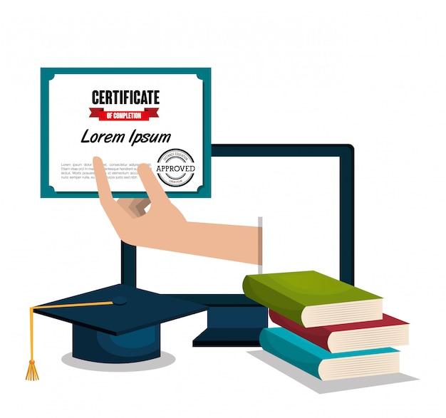 教育証明書のデザイン