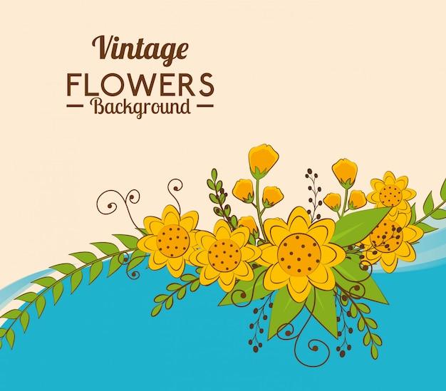 花と花のデザイン。