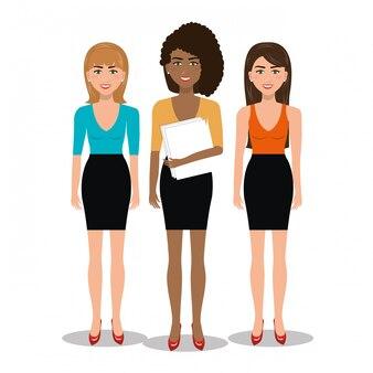Элегантные деловые женщины изолированные значок дизайн