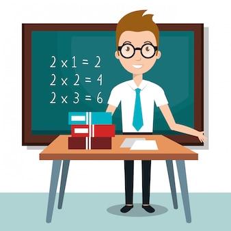 教師の学校の教室のアイコン