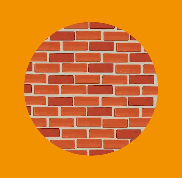 レンガの壁のデザイン。