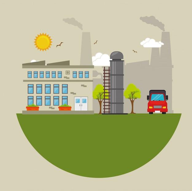 工場や産業のグラフィック