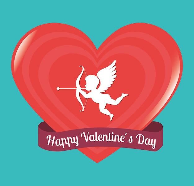 バレンタインの日デザイン、ベクトルイラスト。