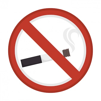 禁止されている煙の広告