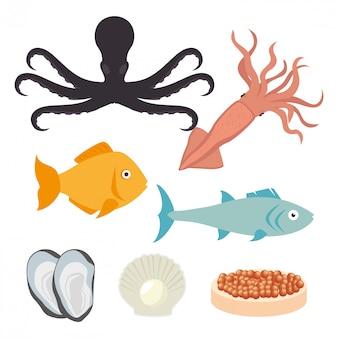 海産物の美食