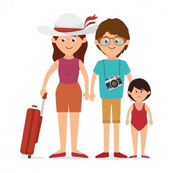 家族のカラフルな漫画