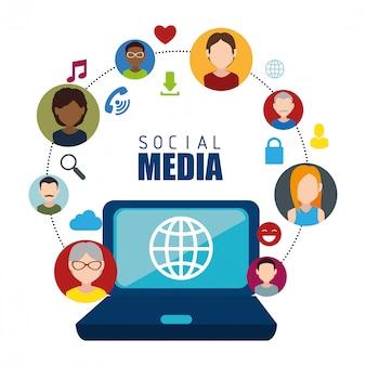 Социальная сеть и медиа