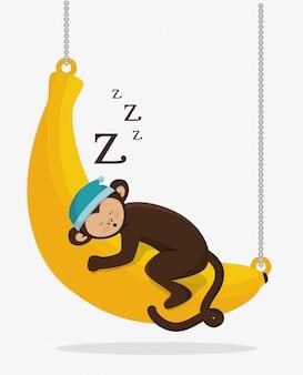 Забавный дизайн обезьяны