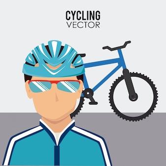 Велоспорт дизайн на белом фоне векторные иллюстрации