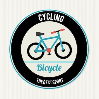 Дизайн велосипеда на белом фоне векторная иллюстрация