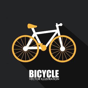 Дизайн велосипеда на сером фоне векторных иллюстраций