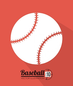 赤い背景の上のスポーツデザイン