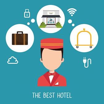 最高のホテルセットサービスアイコン