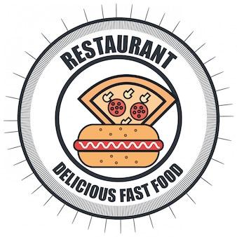 ファーストフードレストランメニュー分離アイコン