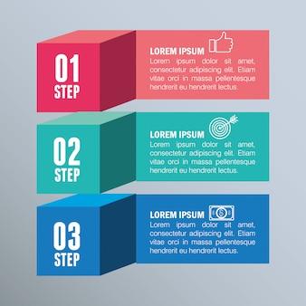インフォグラフィックテンプレートビジネスデザイン