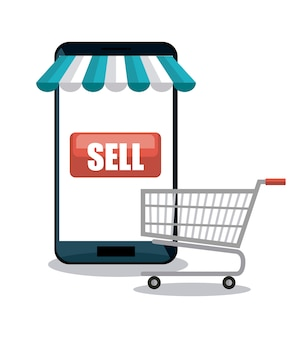Смартфон, шоппинг, электронная коммерция