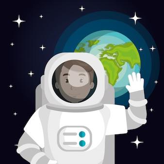 Космонавт мультфильм пространство