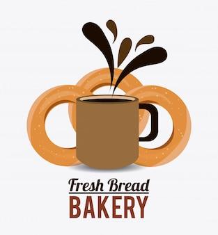 パン屋さんのデザイン。