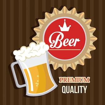 ビールのデジタルデザイン