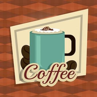 コーヒーのデジタルデザイン。