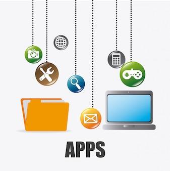 Мобильные приложения и технологии дизайна иконок.
