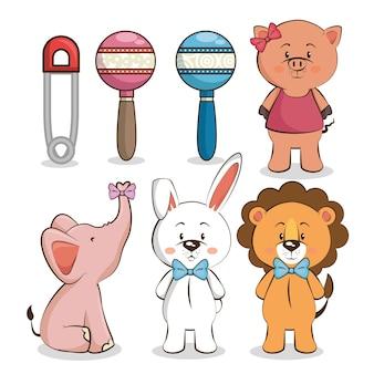 Набор детских значков для душа