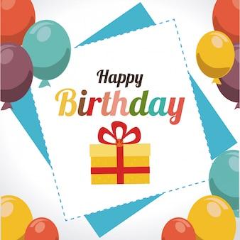 День рождения дизайн иллюстрация