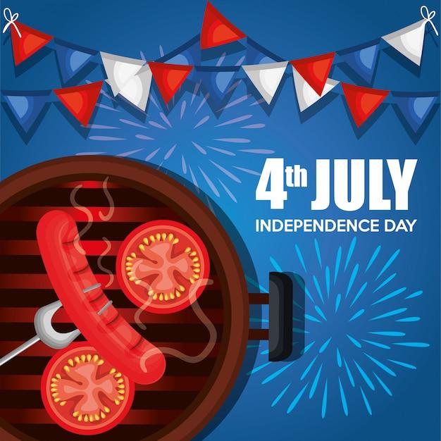 アメリカ独立記念日バーベキューパーティー