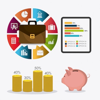事業成長と経費節約の統計