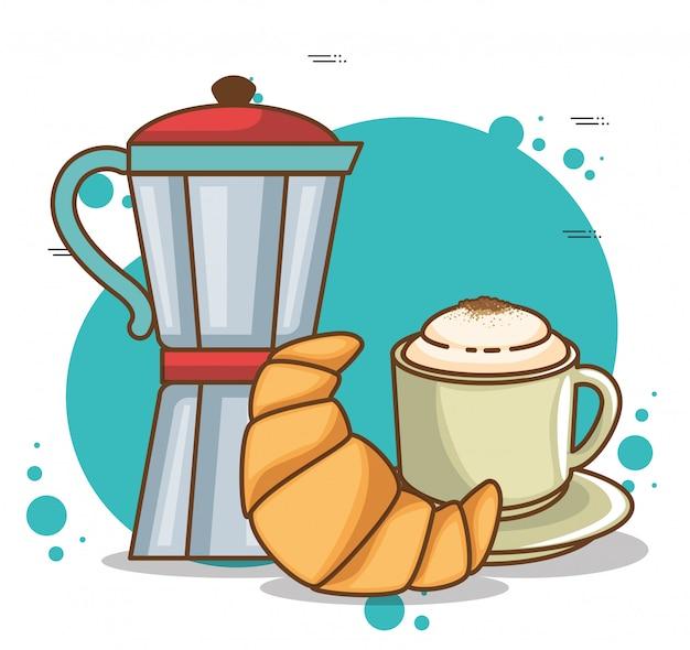 Вкусные элементы времени кофе