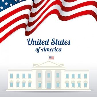 アメリカ合衆国愛国心デザイン。
