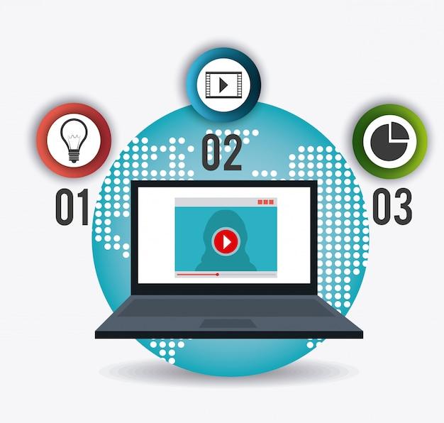 技術、インターネット、マルチメディア