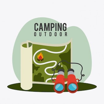 キャンプ旅行や休暇。
