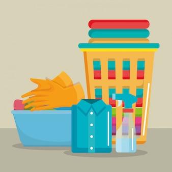Услуги прачечной набор продуктов