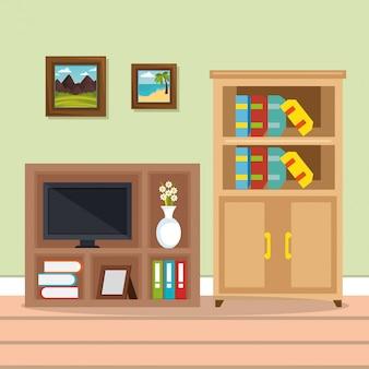 Телевизионная комната место дома
