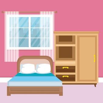 エレガントな寝室シーンクラシック