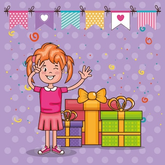 小さな女の子の誕生日カード