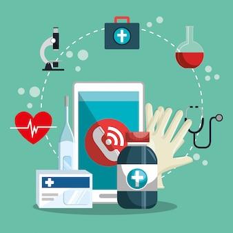Медицинское обслуживание на линии со смартфоном
