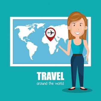 世界中を旅する