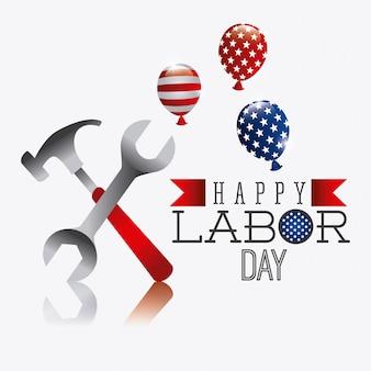 労働者の日アメリカのデザイン。
