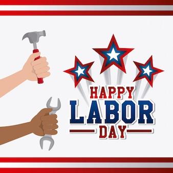 労働者の日カードデザイン。