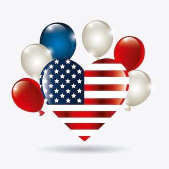 アメリカ合衆国の愛国心デザイン。