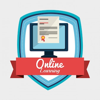 Иллюстрация онлайн обучения