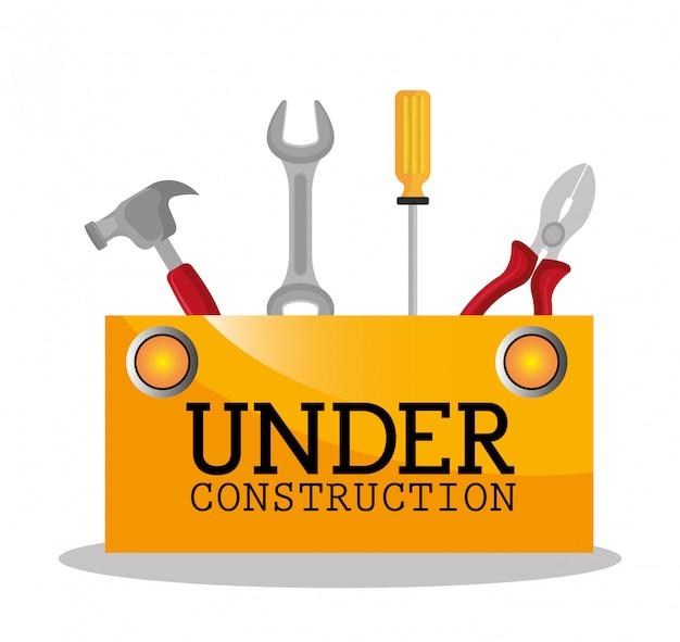 建設中のイラスト