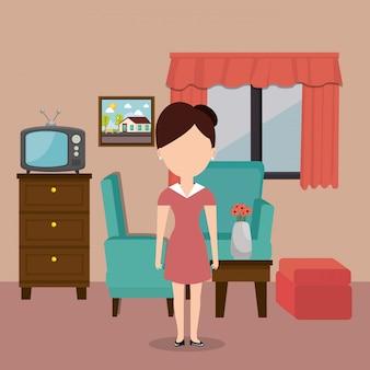 ホテルで働くルームサービス女性