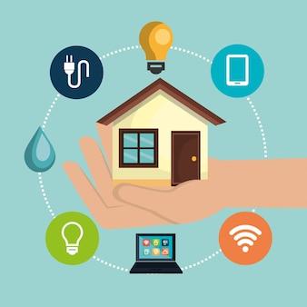 Умный дом технологии установить значок