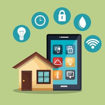 スマートホームを制御するスマートフォン