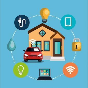 スマートホームテクノロジー設定アイコン